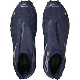 Salomon Snowcross 2 CSWP Shoes navy blazer/reflective silver/lime